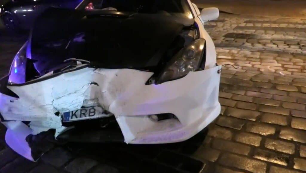 Trijų automobilių avarija Vilniaus centre 1
