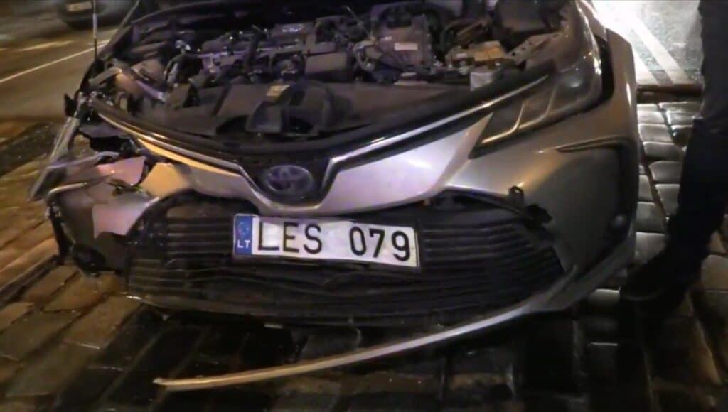 Trijų automobilių avarija Vilniaus centre 2