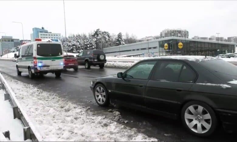 Vilniuje BMW automobilis partrenkė per perėją ėjusį pėsčiąjį