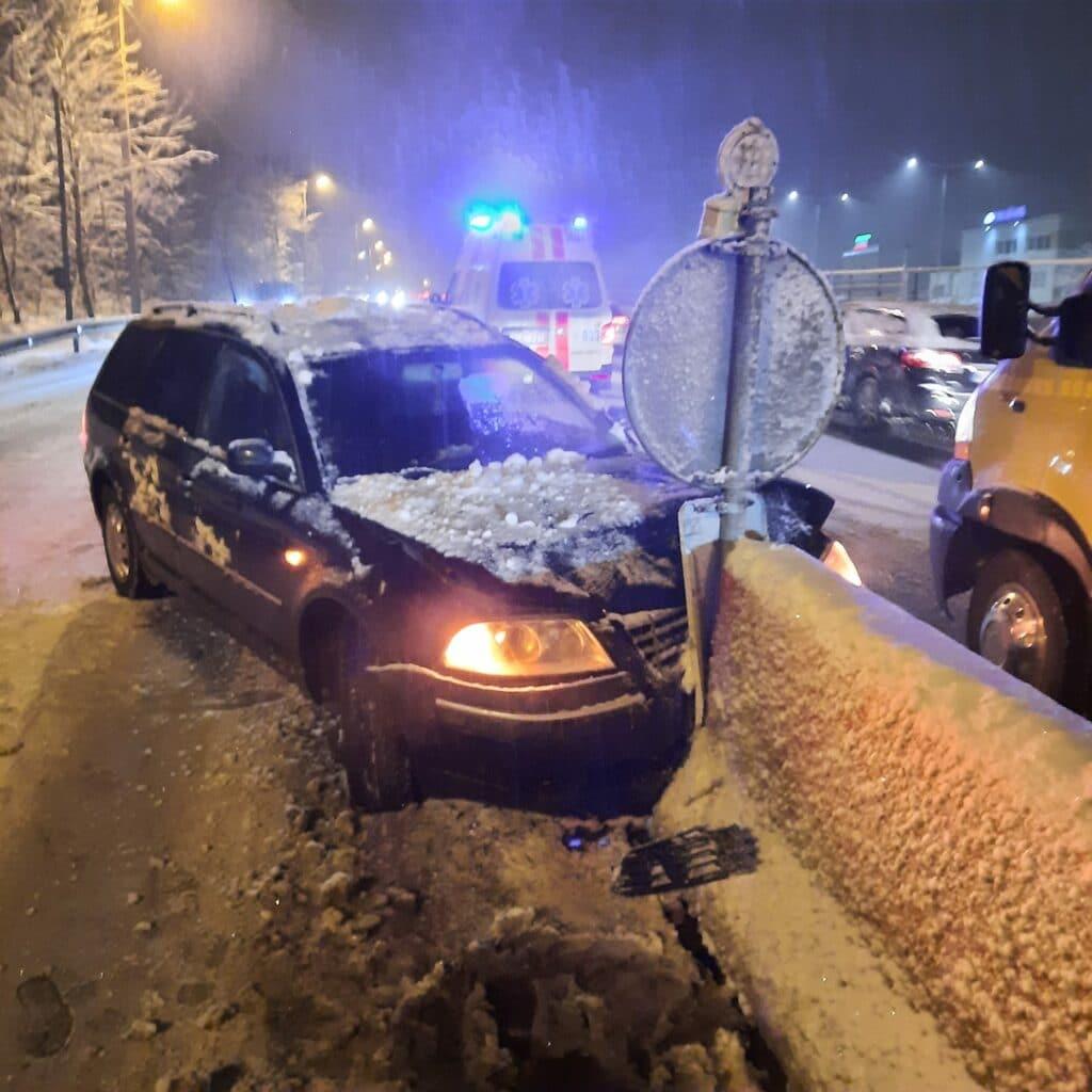 Minsko pl., VW automobilio avarija.