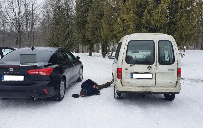 po gaudynių suimtas vw caddy vairuotojas
