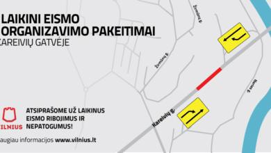 Sostinėje nuo kovo 5 dienos Kareivių gatvės atkarpoje įsigalioja laikini eismo ribojimai