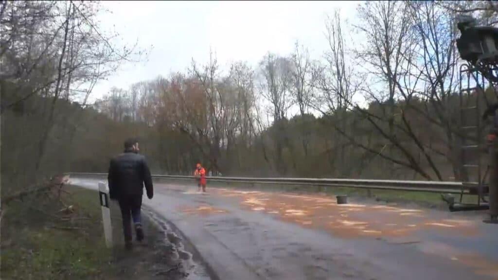Avarija Vilniuje: Titnago g. susidūrė vilkikas ir sunkvežimis