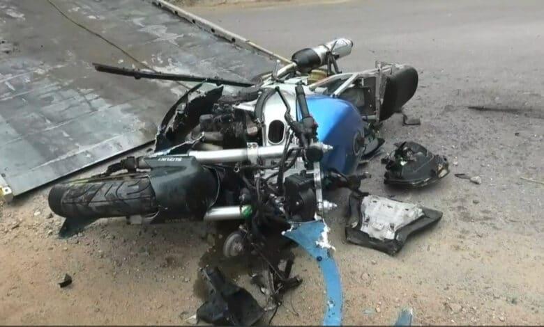 "Avarija Vilniuje: motociklas trenkėsi į ""BMW"" markės automobilį"