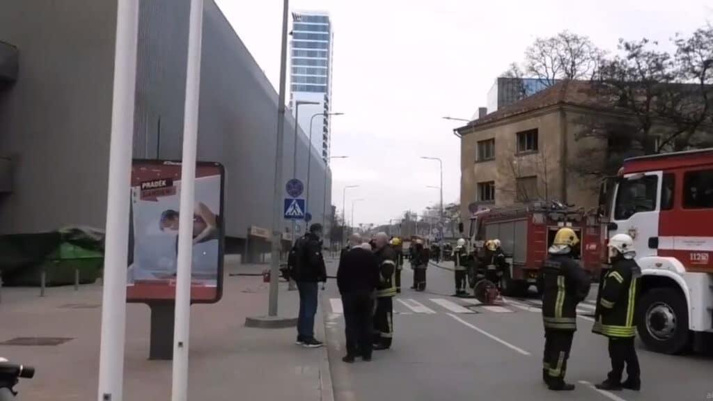 """Lvovo gatvė uždaryta dėl sprogimo PC """"Europa"""""""
