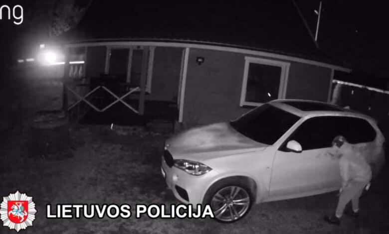 Nesėkmingas bandymas pavogti BMW X5 vairą baigėsi suėmimu ir bauda (video)