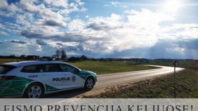 Policija informuoja visą gegužės mėnesį vykdysime eismo prevenciją keliuose