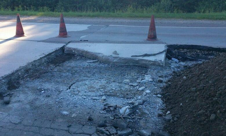 Įspėjimas važiuojantiems keliu A14 Vilnius–Utena