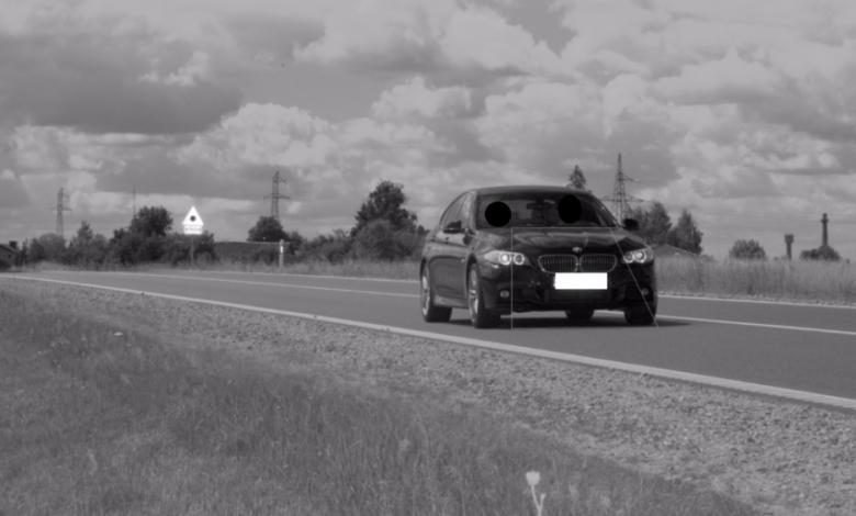 Užfiksuotas BMW daugiau nei dvigubai viršijęs leistiną važiavimo greitį