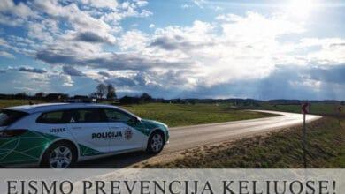 Lietuvos policija pranešė, jog liepos mėnesį vykdys eismo prevenciją keliuose