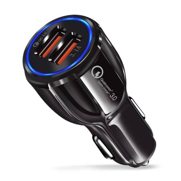 Automobilinis įkroviklis su 2x USB jungtimis, 3.1A - AITI-01