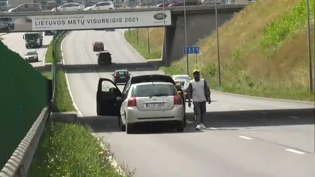 Keturių automobilių avarija Vilniuje, Geležinio vilko gatvėje