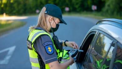 Per savaitę Klaipėdos apskrities Kelių policijos pareigūnai išaiškino 7 neblaivius vairuotojus
