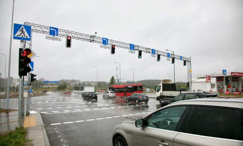 Sostinės Pilaitės rajone – nauja sankryža ir saugesnis eismo organizavimas