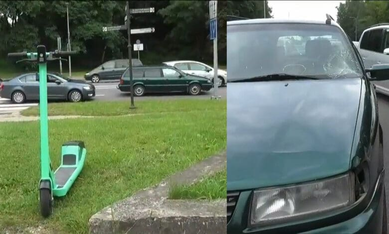 Vilniuje partrenkta paspirtukininkė išgabenta į ligoninę