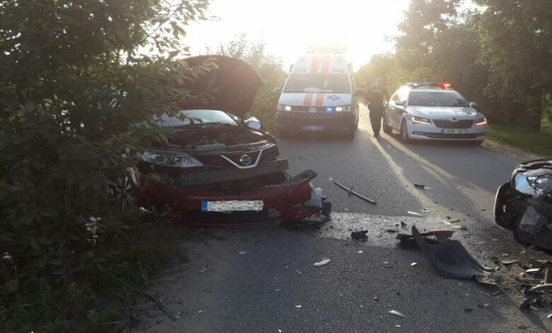 Antradienį užregistruota 15 eismo įvykių, nukentėjo 16 žmonių