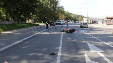 Rugsėjo 14-ąją, antradienį, pirminiais duomenimis, 5-iuose eismo įvykiuose sužeisti 5 žmonės, tarp jų – 1 nepilnametis.