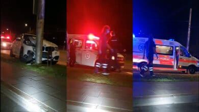 Avarija Vilniuje: BMW X6M rėžėsi į stulpą, nukentėjo žmonės