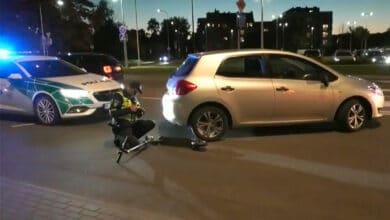 Avarija Vilniuje: partrenkta dviračių taku važiavusi paspirtuko vairuotoja