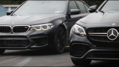 BMW M5 lenktynės prieš Mercedes-AMG E63 S buvo itin artimos