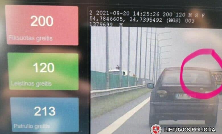 Nuo pareigūnų pasprukti sugebėjęs BMW vairuotojas sulaikytas sekančią dieną