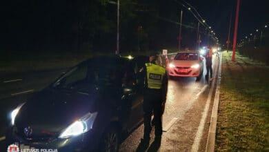 Reido Vilniaus apylinkėse metu įkliuvo 6 neblaivūs ir 6 neturintys teisės vairuoti