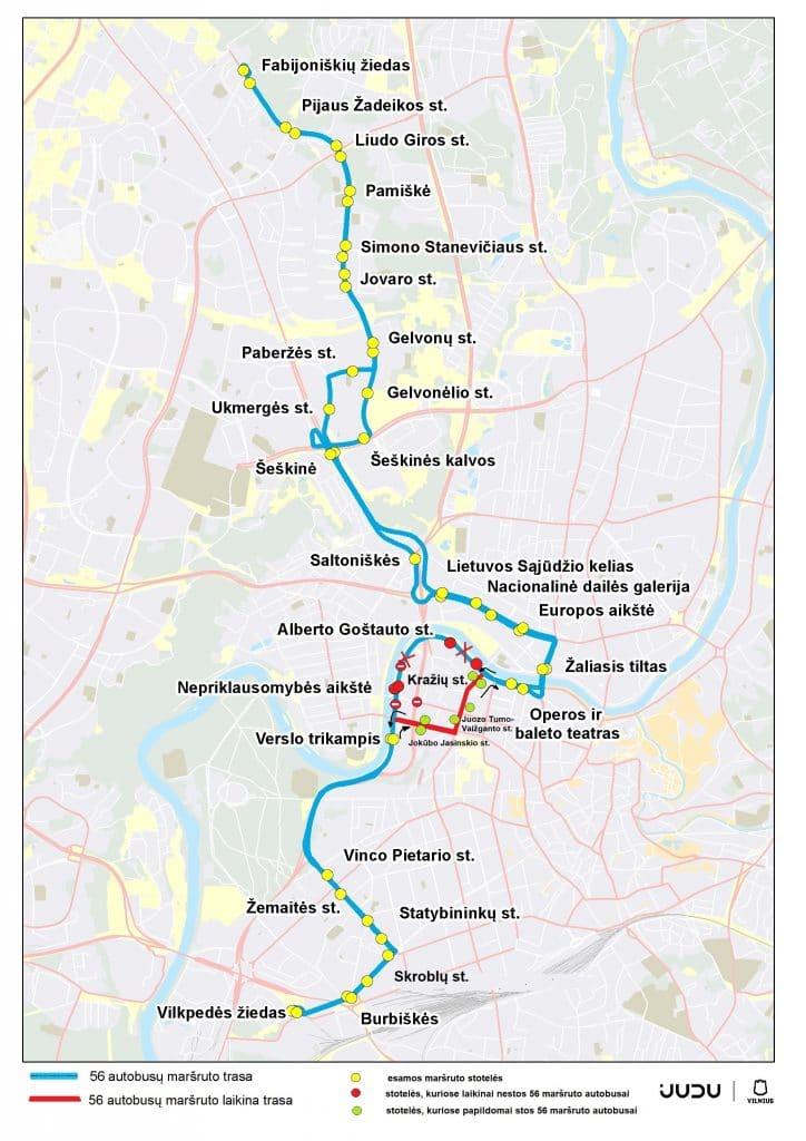 Rugsėjo 25 d. ėjimo renginio metu – laikini eismo pasikeitimai