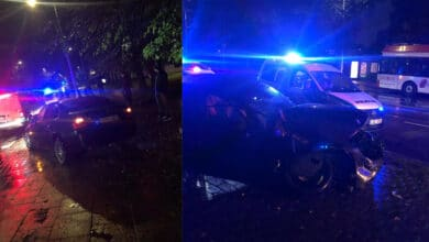 Vilniuje girtas BMW vairuotojas taranavo troleibusą