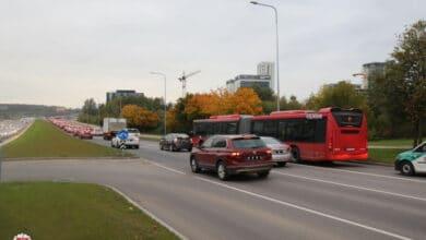 Antradienį užregistruoti 62 eismo įvykiai, žuvo automobilio vairuotojas