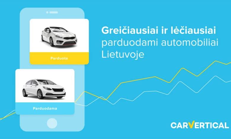 Greičiausiai ir lėčiausiai parduodami naudoti automobiliai Lietuvoje