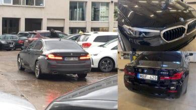 Vilniuje užfiksuotas naujas nežymėtas policijos BMW automobilis